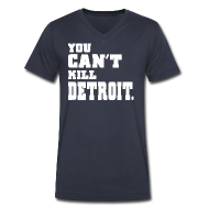 T-Shirts ~ Men's V-Neck T-Shirt by Canvas ~ You Can't Kill Detroit