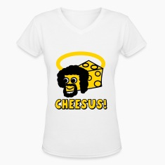 Cheesus / Jesus Parody Women's T-Shirts