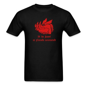 IT IS JUST A FLESH WOUND -BLACK NIGHT T-Shirt - Men's T-Shirt