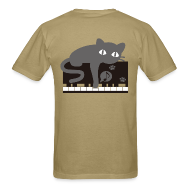 T-Shirts ~ Men's T-Shirt ~ Lazy Cat Piano