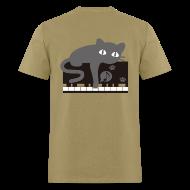 T-Shirts ~ Men's T-Shirt ~ Lazy Cat Piano