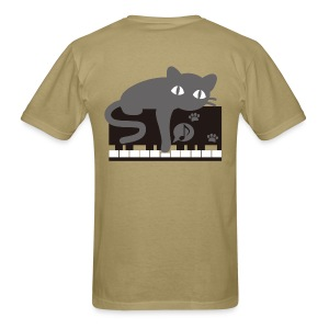 Lazy Cat Piano - Men's T-Shirt