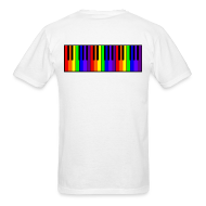 T-Shirts ~ Men's T-Shirt ~ Rainbow Piano keyboard