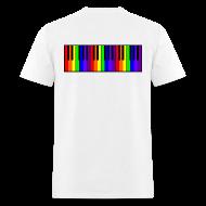 T-Shirts ~ Men's T-Shirt ~ Rainbow Piano keyboard