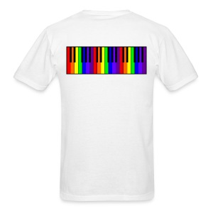 Rainbow Piano keyboard - Men's T-Shirt