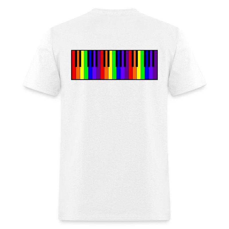 Rainbow Piano keyboard - Men's T-Shirt