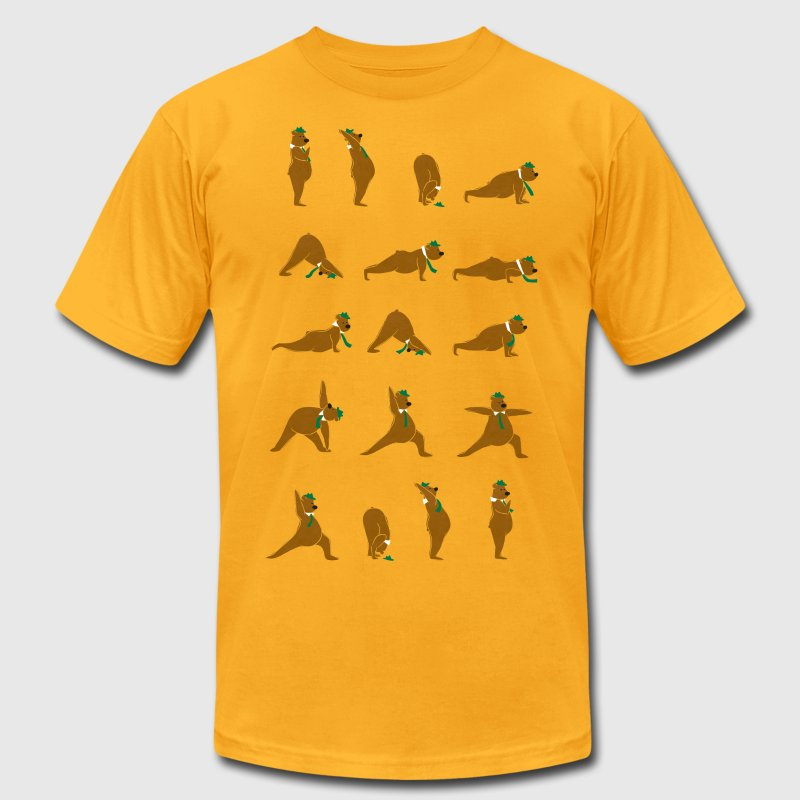 Yoga Bear - Men's T-Shirt by American Apparel