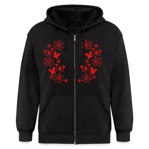 Floral Hoodie - Men's Zip Hoodie