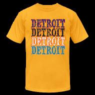 T-Shirts ~ Men's T-Shirt by American Apparel ~ Detroit Colors