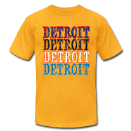 T-Shirts ~ Men's T-Shirt by American Apparel ~ Detroit Colors