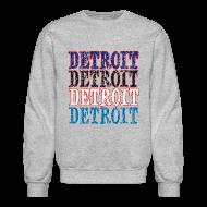 Long Sleeve Shirts ~ Crewneck Sweatshirt ~ Detroit Colors