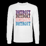 Long Sleeve Shirts ~ Men's Long Sleeve T-Shirt ~ Detroit Colors