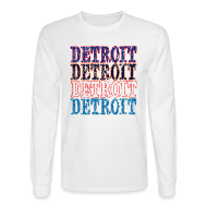 Long Sleeve Shirts ~ Men's Long Sleeve T-Shirt ~ Detroit Colors