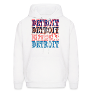 Hoodies ~ Men's Hoodie ~ Detroit Colors