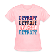 Women's T-Shirts ~ Women's T-Shirt ~ Detroit Colors