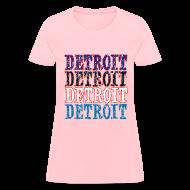 Women's T-Shirts ~ Women's T-Shirt ~ Detroit Colors