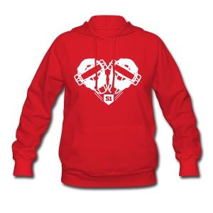 Womens I Love Chooch Heart Mask SweatShirt - Women's Hoodie