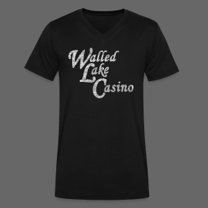 Old Walled Lake Casino - Men's V-Neck T-Shirt by Canvas