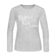Long Sleeve Shirts ~ Women's Long Sleeve Jersey T-Shirt ~ Old Walled Lake Casino