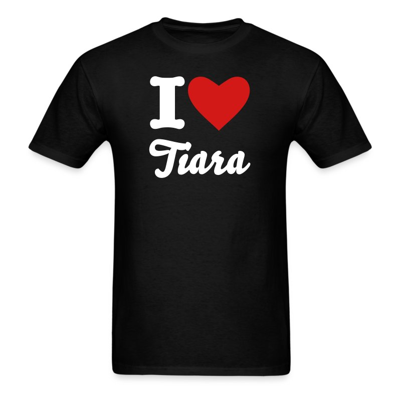 Men's I heart Tiara - Men's T-Shirt