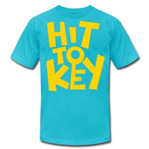 Hit To Key (Male) (Blue) - Men's T-Shirt by American Apparel