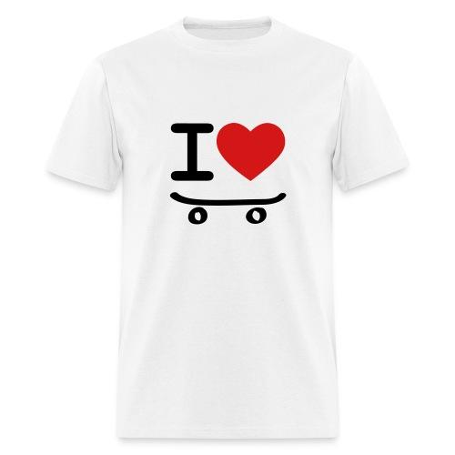 Mens I Love Fingerboarding/Skateboarding - Men's T-Shirt