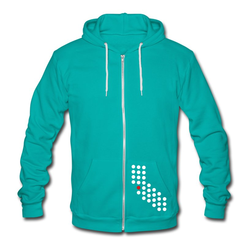 Bay Area, CA - Unisex - Unisex Fleece Zip Hoodie by American Apparel