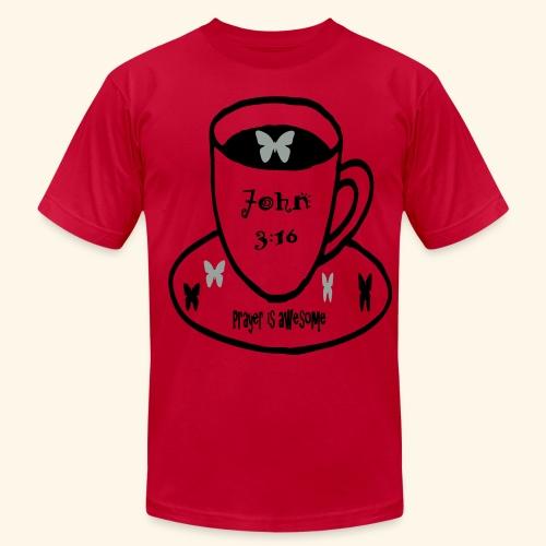 John 3:16 Prayer is awesome - Men's  Jersey T-Shirt