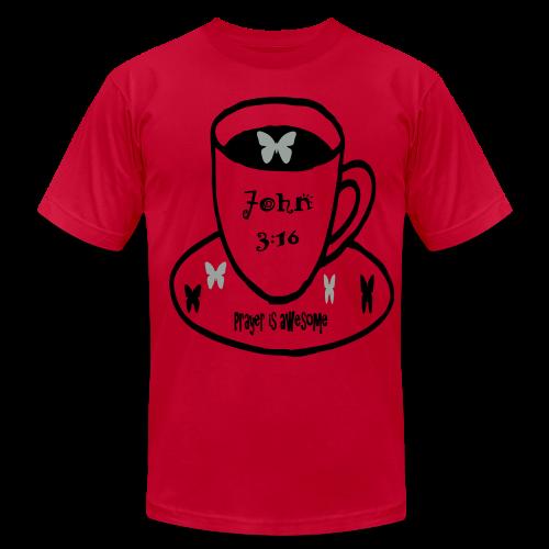 John 3:16 Prayer is awesome - Men's Fine Jersey T-Shirt