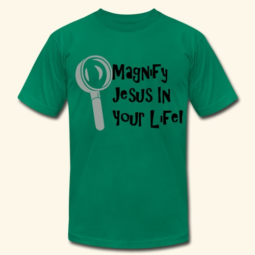 Magnify Jesus in your Life! - Men's  Jersey T-Shirt