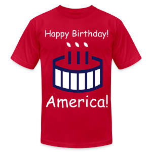 Happy Birthday America! - Men's T-Shirt by American Apparel