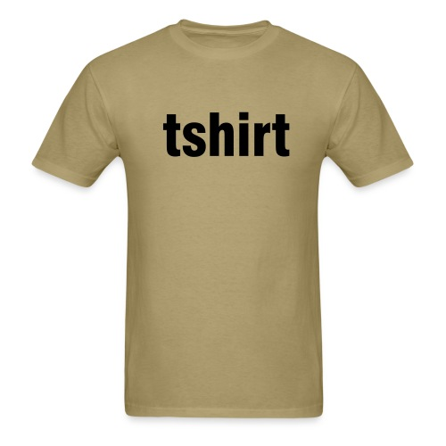 generic T Khaki - Men's T-Shirt