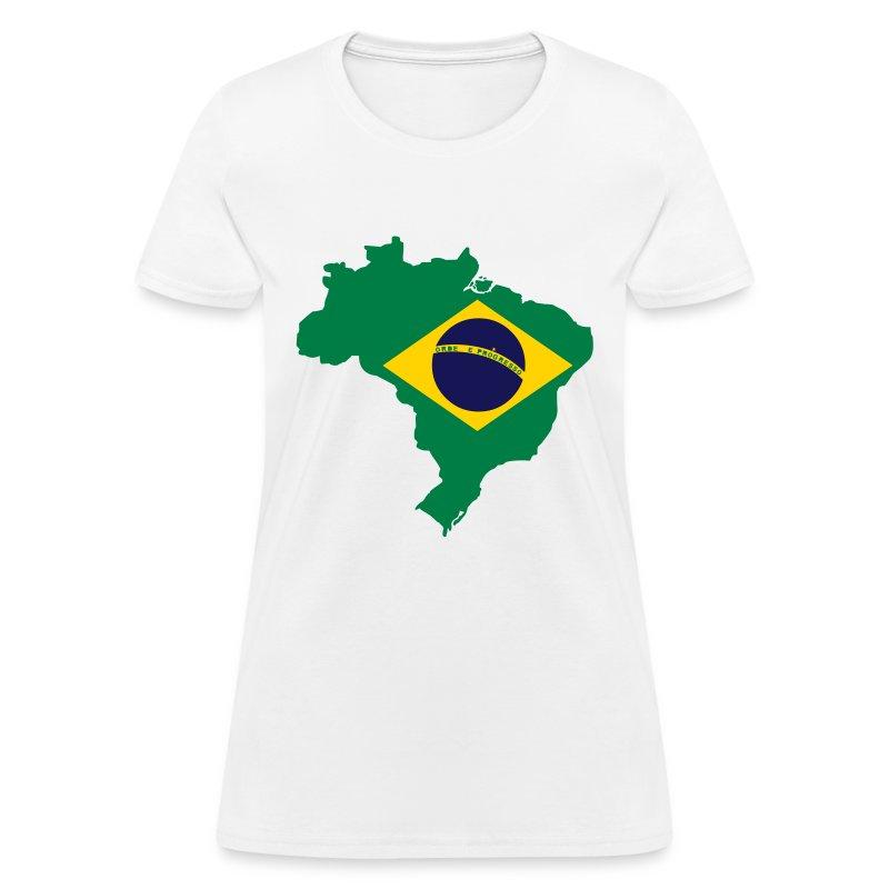 Brazil map t shirt spreadshirt for Womens brazil t shirt