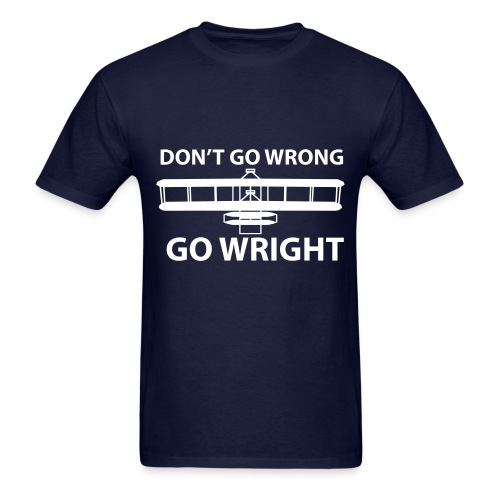 Don't go wrong, go Wright! - Men's T-Shirt