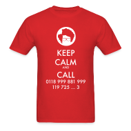 T-Shirts ~ Men's T-Shirt ~ IT Crowd - Moss - Keep Calm and Call - men short sleeve