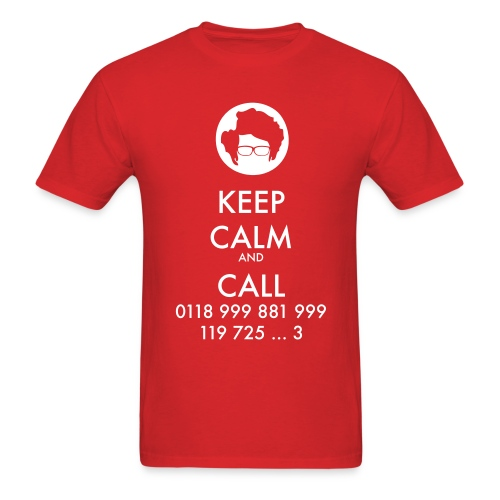 IT Crowd - Moss - Keep Calm and Call - men short sleeve - Men's T-Shirt