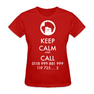 T-Shirts ~ Women's T-Shirt ~ IT Crowd - Moss - Keep Calm and Call - girl short sleeve