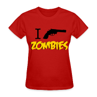 T-Shirts ~ Women's T-Shirt ~ Walking Dead - I Shoot Zombies - girl short sleeve t-shirt