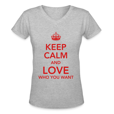 keep calm and love who you want Women's T-Shirts