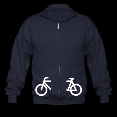 split_bicycle_1 Zip Hoodies/Jackets