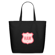 Bags & backpacks ~ Eco-Friendly Cotton Tote ~ Ham Badge Eco-Friendly Cotton Tote