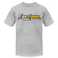 T-Shirts ~ Men's T-Shirt by American Apparel ~ Fast Lane Daily color logo T