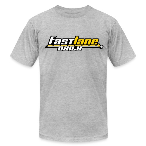 Fast Lane Daily color logo T - Men's T-Shirt by American Apparel