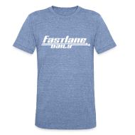T-Shirts ~ Unisex Tri-Blend T-Shirt ~ Fast Lane Daily Logo on Vintage T