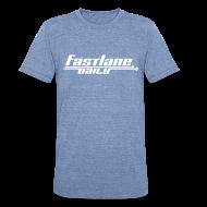 T-Shirts ~ Unisex Tri-Blend T-Shirt ~ Fast Lane Daily Logo on Vintage T