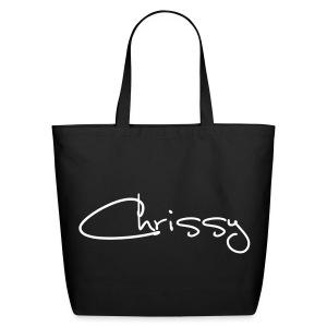 Chrissy Black Tote Bag (Large) - Eco-Friendly Cotton Tote
