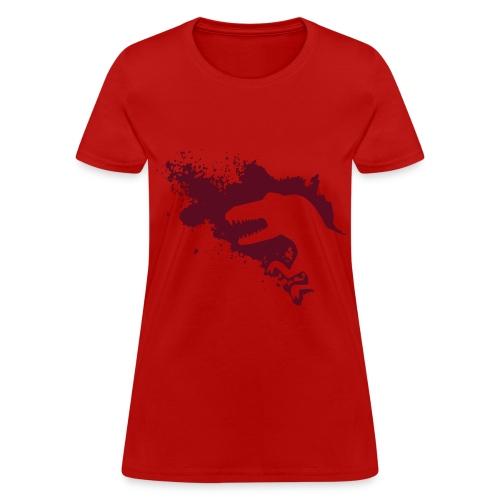 Dino Splash (womanly women) - Women's T-Shirt