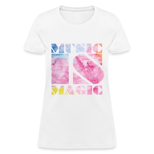 Music is Magic Watercolour 1 - Women's T-Shirt