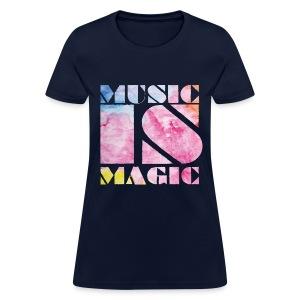 Music is Magic Watercolour 2 - Women's T-Shirt