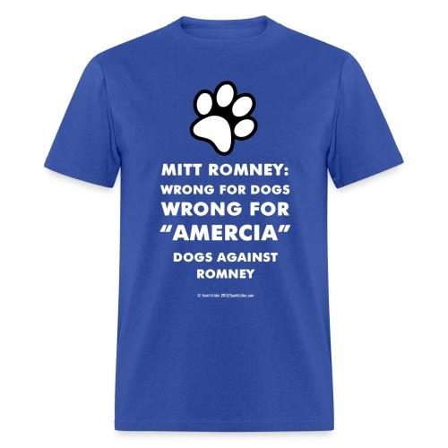 Official Dogs Against Romney Amercia Tee (black) - Men's T-Shirt